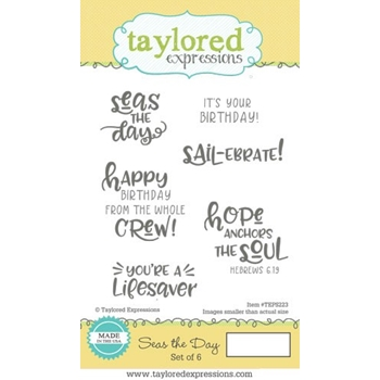 Taylored Expressions SEAS THE DAY Cling Stamp Set TEPS223