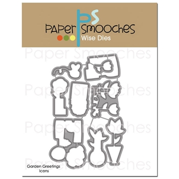 Paper Smooches GARDEN GREETINGS ICONS Wise Dies J2D390