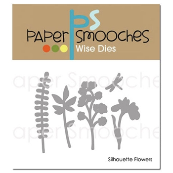Paper Smooches SILHOUETTE FLOWERS Wise Dies J2D393