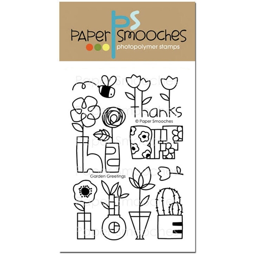 Paper Smooches GARDEN GREETINGS Clear Stamps J2S286 Preview Image