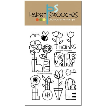 Paper Smooches GARDEN GREETINGS Clear Stamps J2S286