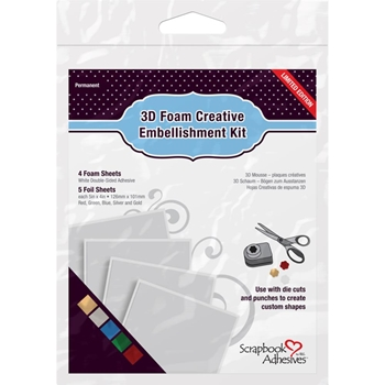 Scrapbook Adhesives 3D FOAM CREATIVE EMBELLISHMENT KIT 01225