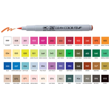 Zig Clean Color 48 SET FB Felt Nib FB6000T48V