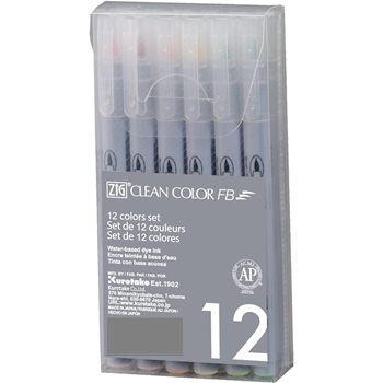 Zig Clean Color Felt Brush Pen Set PURE FB6000T12C