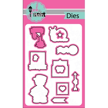 Pink and Main HAPPY MAIL DIE Set 023174