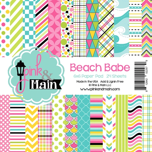 Pink and Main 6x6 BEACH BABE Paper Pad Preview Image