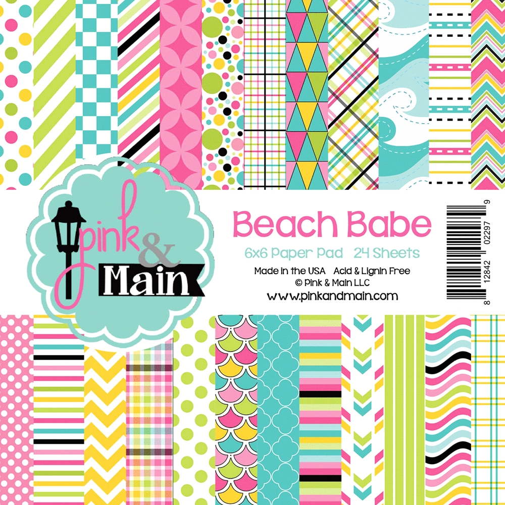 Pink and Main 6x6 BEACH BABE Paper Pad zoom image