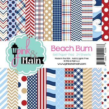 Pink and Main 6x6 BEACH BUM Paper Pad