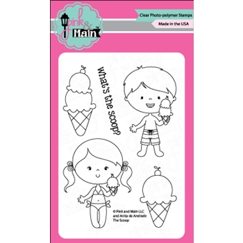 Pink and Main THE SCOOP Clear Stamp Set 023105
