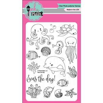 Pink and Main SEAS THE DAY Clear Stamp Set 023068