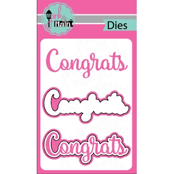 Pink and Main CONGRATS Die Set 023037