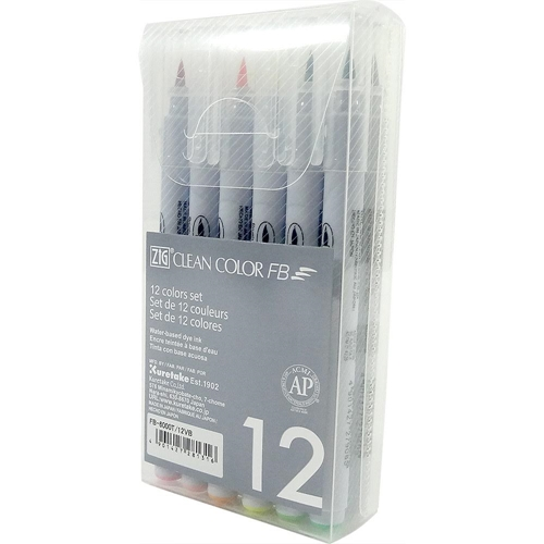 Zig Clean Color Felt Brush Pen Set BRIGHT FB6000T12VB Preview Image