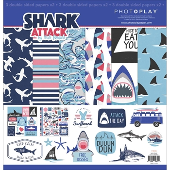 PhotoPlay SHARK ATTACK 12 x 12 Collection Pack SW2857