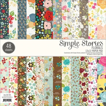 Simple Stories FLORALS 12 x 12 Paper Pad HL7899