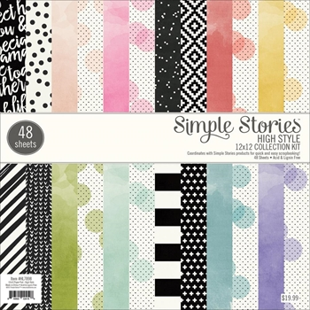 Simple Stories HIGH STYLE 12 x 12 Paper Pad HL7898