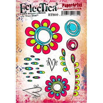 Paper Artsy ECLECTICA3 TRACY SCOTT 09 Rubber Cling Stamp ETS09