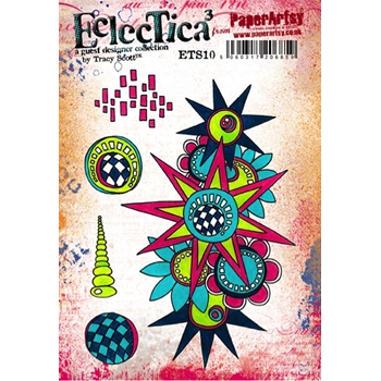 Paper Artsy ECLECTICA3 TRACY SCOTT 10 Rubber Cling Stamp ETS10