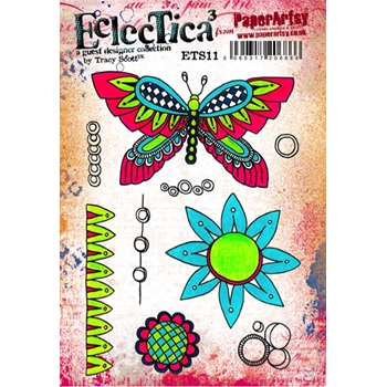 Paper Artsy ECLECTICA3 TRACY SCOTT 11 Rubber Cling Stamp ETS11