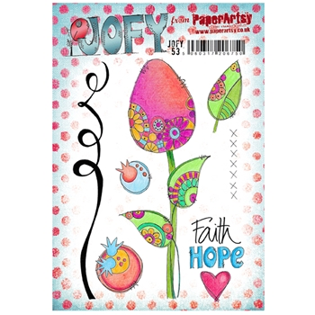 Paper Artsy JOFY 53 Faith Rubber Cling Stamp JOFY53
