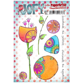 Paper Artsy JOFY 54 Accentuate The Positive Rubber Cling Stamp JOFY54