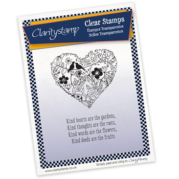 Claritystamp GARDEN HEART AND VERSE Clear Stamps STALO10463A5