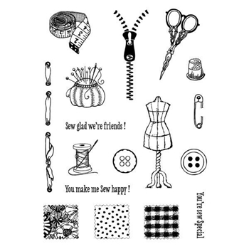 Claritystamp HABERDASHERY Clear Stamps STAFA10305A5