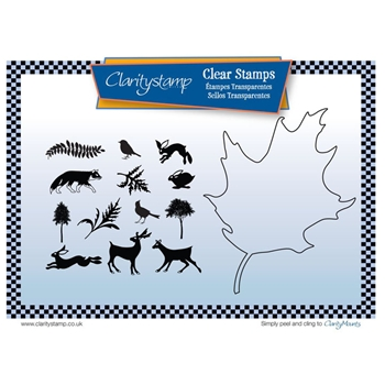 Claritystamp LEAF OUTLINE Clear Stamps and Mask STATR10507A5