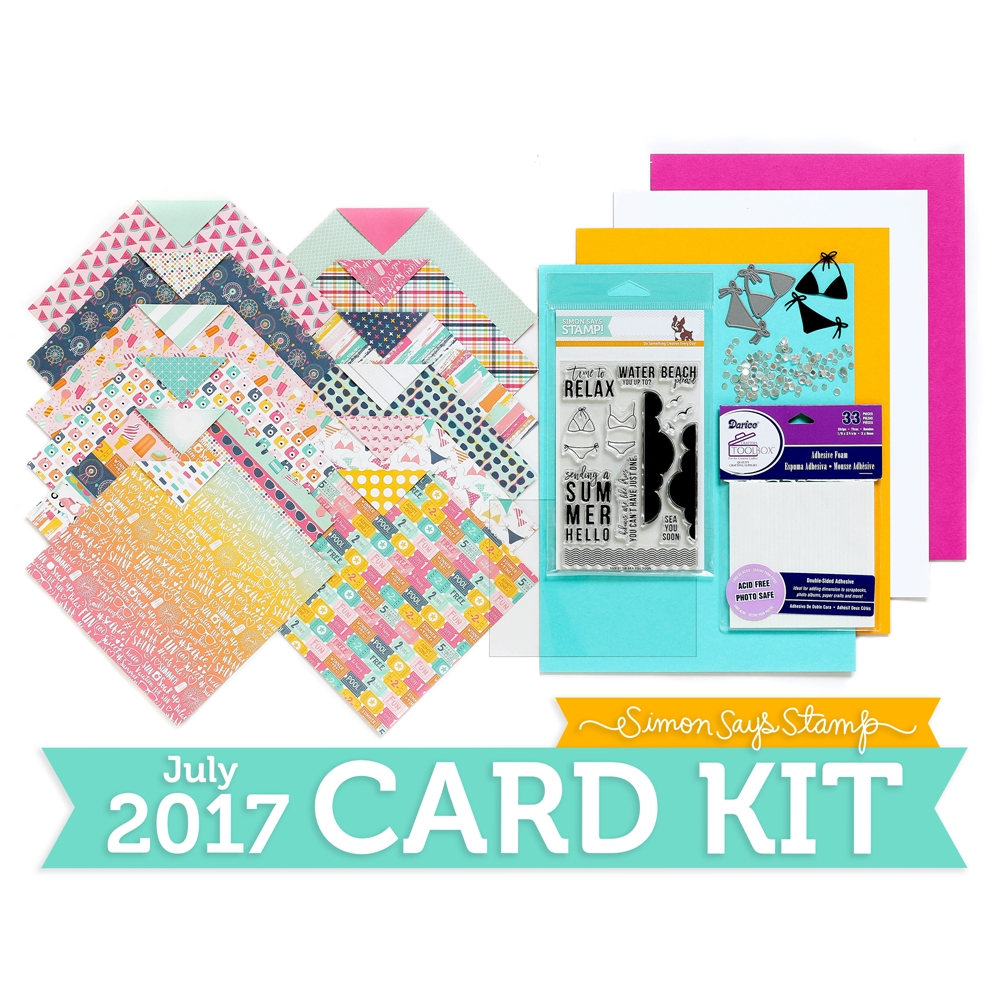 Simon Says Stamp Card Kit of The Month JULY 2017 HELLO SUMMER CK0717 zoom image