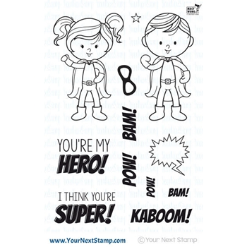 Your Next Stamp LITTLE DARLING SUPER HEROES Clear CYNS503