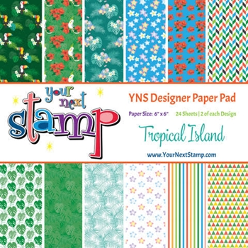 Your Next Stamp ISLAND FUN 6X6 Paper Pack YNSPP012