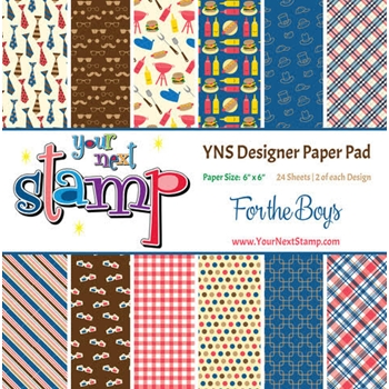 Your Next Stamp FOR THE BOYS 6X6 Paper Pack YNSPP013