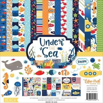 Echo Park UNDER THE SEA 12 x 12 Collection Kit US131016