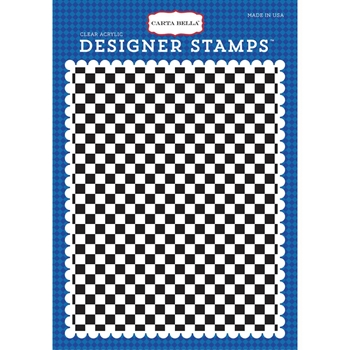 Carta Bella CHECKERED FLAG Clear Stamp CBCAR69045