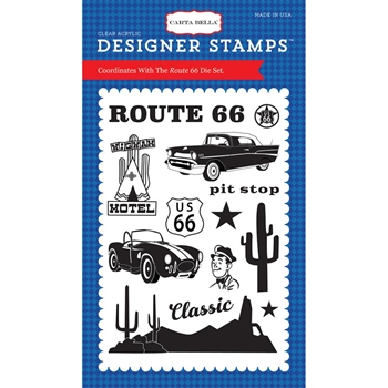 Carta Bella ROUTE 66 Clear Stamp Set CBCAR69042
