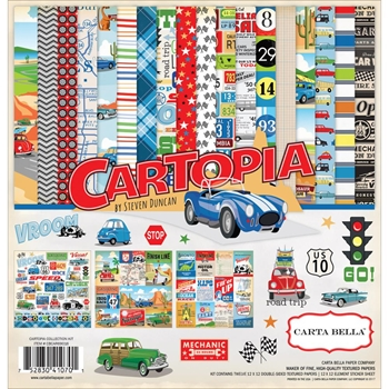 Carta Bella CARTOPIA 12 x 12 Collection Kit CBCAR69016