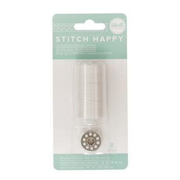 We R Memory Keepers STITCH HAPPY WHITE Multimedia Thread 660372*