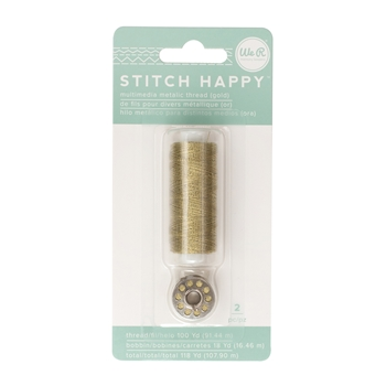 We R Memory Keepers STITCH HAPPY METALLIC GOLD Multimedia Thread 660704