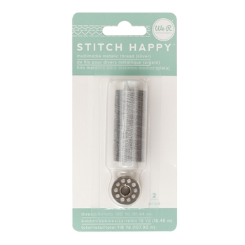 We R Memory Keepers STITCH HAPPY METALLIC SILVER Multimedia Thread 660705