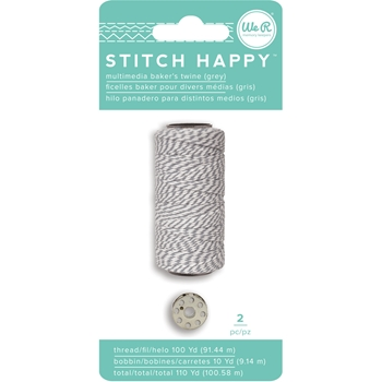 We R Memory Keepers STITCH HAPPY BAKERS TWINE GRAY 663030