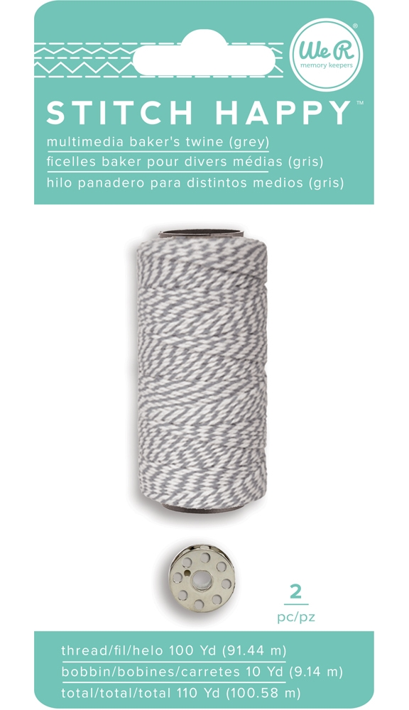 We R Memory Keepers STITCH HAPPY BAKERS TWINE GRAY 663030 zoom image