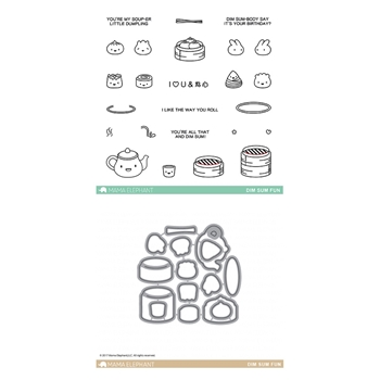 Mama Elephant Clear Stamp and Die MEPT378 Dim Sum Fun SET