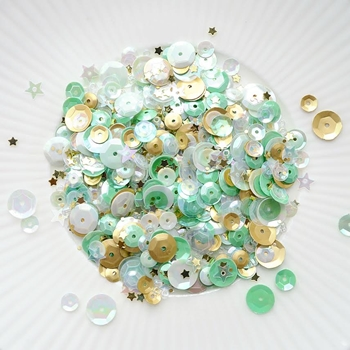 Little Things From Lucy's Cards MINT GOLD Sequin Shaker Mix LB138