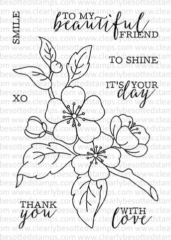 Clearly Besotted BEAUTIFUL FRIEND II Clear Stamp Set zoom image