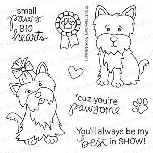 Newton's Nook Designs TERRIFIC TERRIERS Clear Stamp Set 20170605