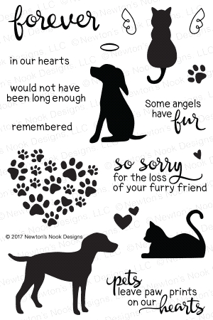 Newton's Nook Designs FURR-EVER FRIENDS Clear Stamp Set 20170601 Preview Image