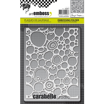 Carabelle Studio CIRCLES AND DOTS Embossing Folder AE60011
