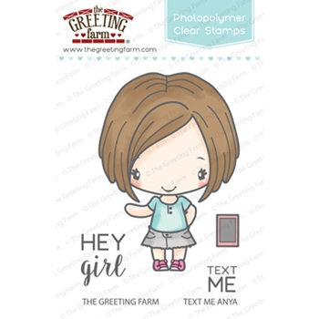 The Greeting Farm TEXT ME ANYA Clear Stamps TGF324