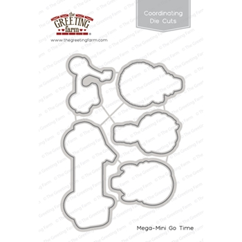 The Greeting Farm MEGA MINI GO TIME Coordinating Die Cuts TGF323