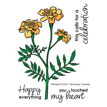 Technique Tuesday MARIGOLD Clear Stamps 02510