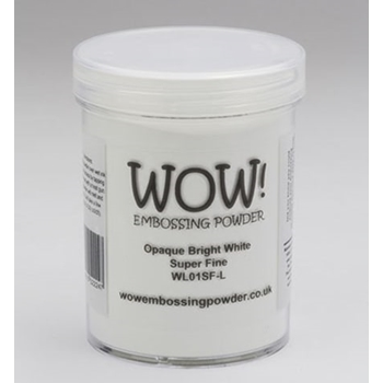 WOW Embossing Powder OPAQUE BRIGHT WHITE Super Fine Large Jar WL01SF-L